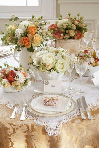 Table-setting-antique-chic- & French Shabby Chic Style: Part 2 - Table Decoration