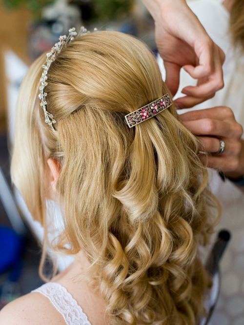 curly wedding hair france