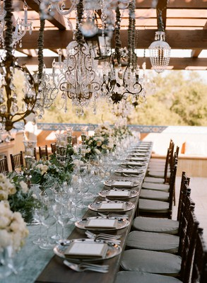 french chandelier wedding
