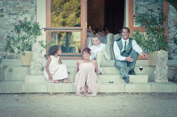 guests relaxing france wedding