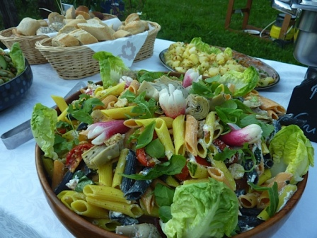 pasta salad Chamonix wedding