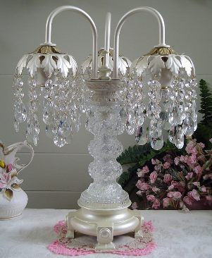 pearl table chandelier