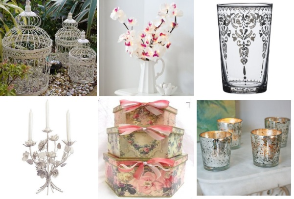 shabby chic wedding accessories