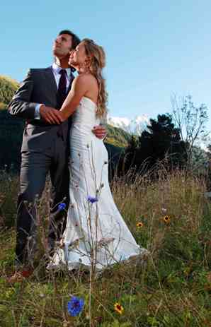 Chamonix wedding - wedding dress