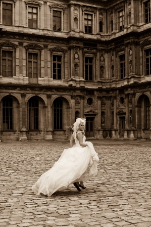 bridal trash the dress paris
