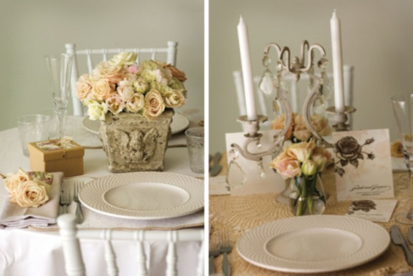 pastel wedding table
