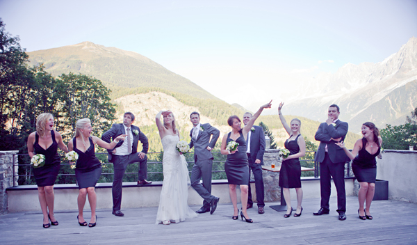 real life wedding in Chamonix