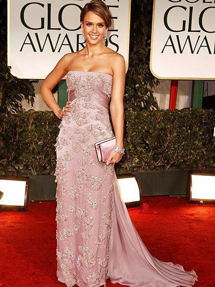 golden globe lilac dress