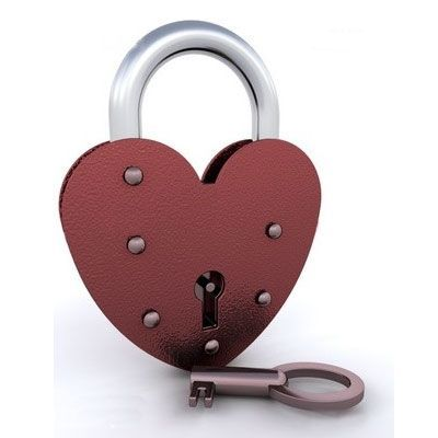 heart pad lock