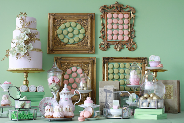 laduree desserts table