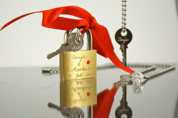 engraved love pad lock