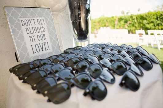 outdoor wedding favour