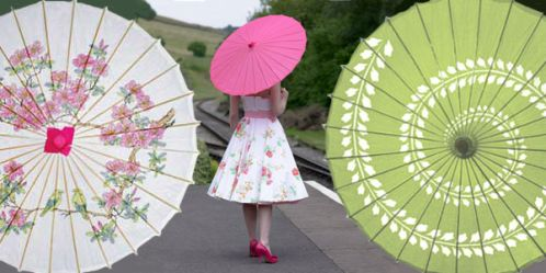 paper wedding parasols
