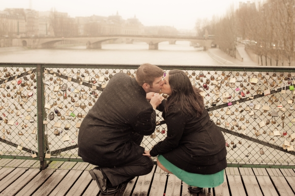 love padlocks Pont des Arts