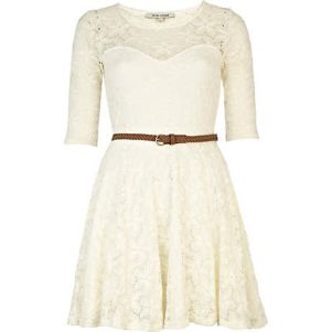 river island little white dress