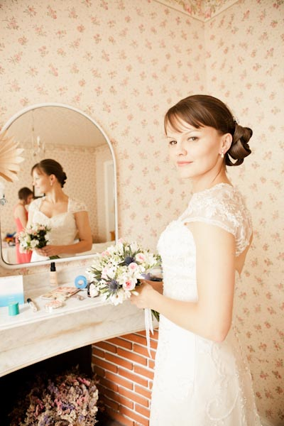 rustic french bride