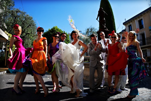 real life wedding france on french riviera