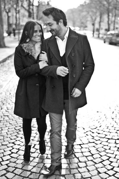 parisian engagement photo shoot
