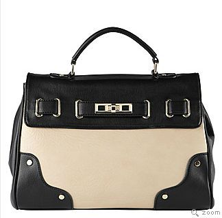 black and white satchel