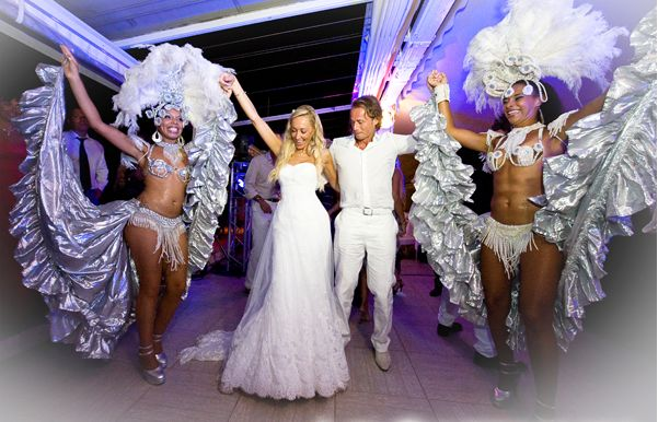 carnival wedding - real life wedding Cannes
