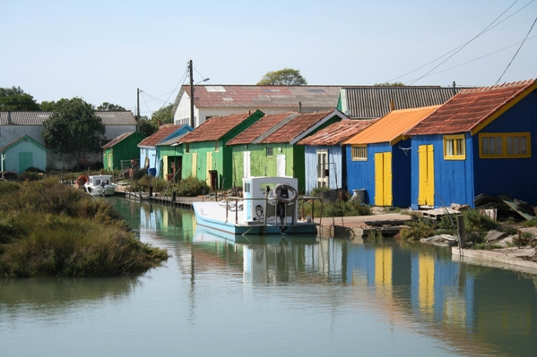 coloured huts oleron