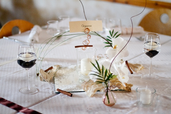 natural wedding table
