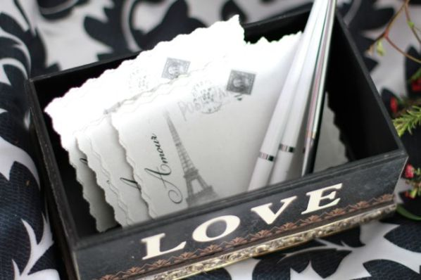 wedding paris postcards