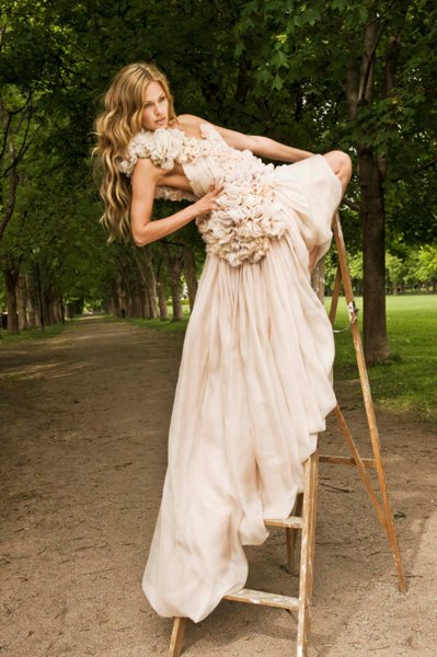 floaty wedding dress