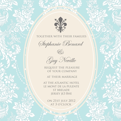 french fantasy wedding invites