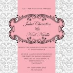 french themed wedding stationery