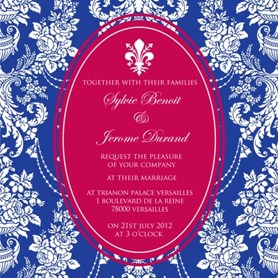 french wedding invites
