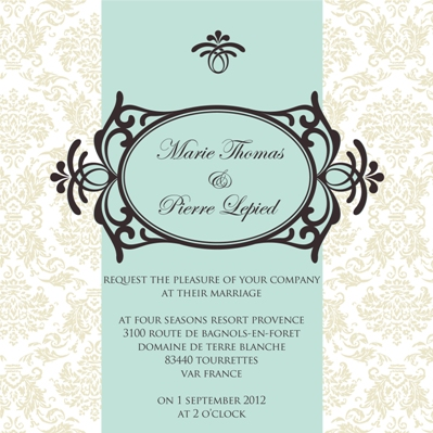 marie antoinette wedding stationery