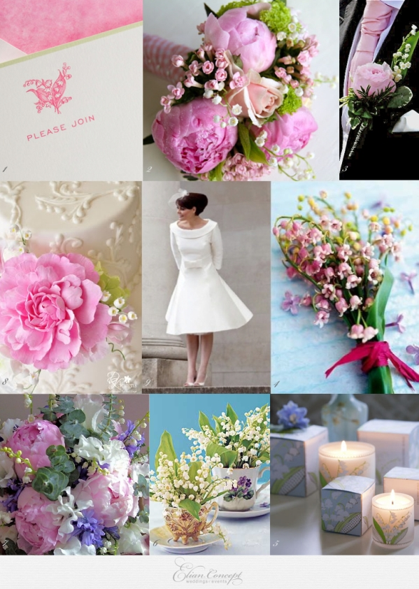 pink lily of the valley wedding ideas