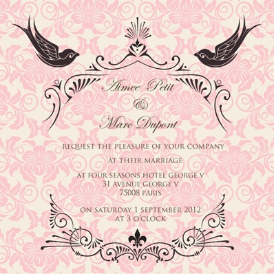 wedding france invite