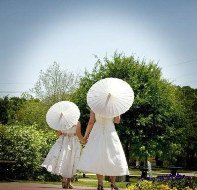 DIY wedding parasol