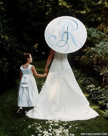 personalised bridal parasol