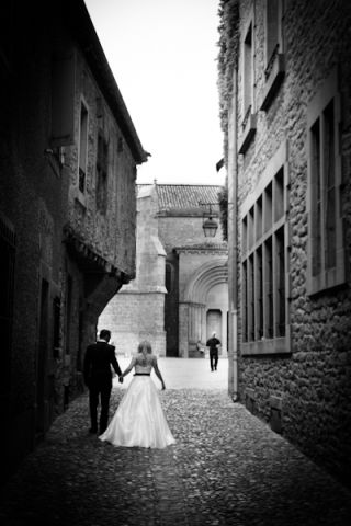 Cobbled streets wedding