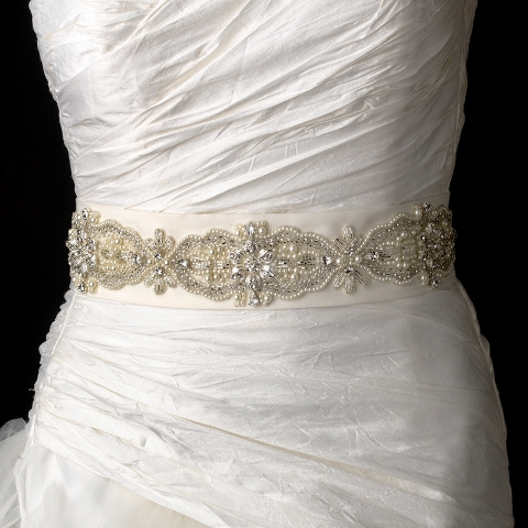 bridal sash wedding dress