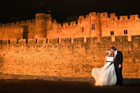 real life wedding Carcassonne Citadel