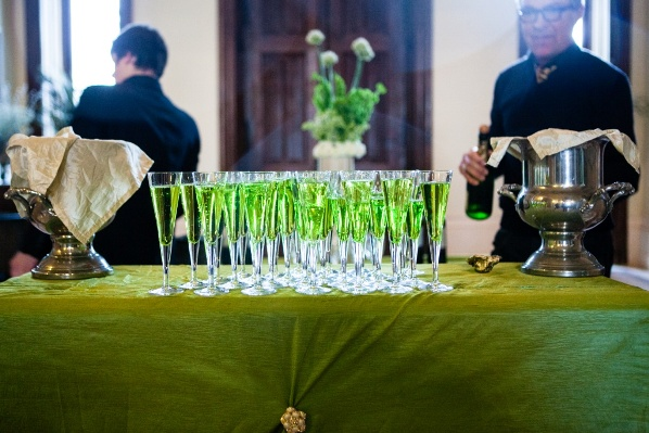 green wedding cocktails