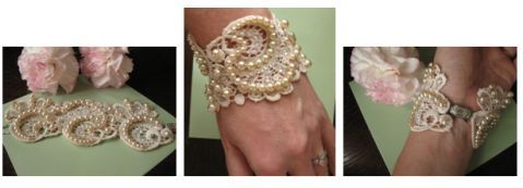 lace wedding cuffs