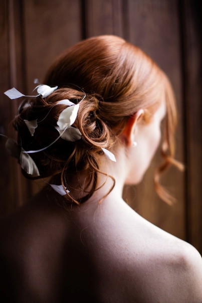 shabby chic wedding hairstyle