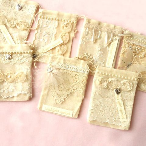shabby chic favour bags
