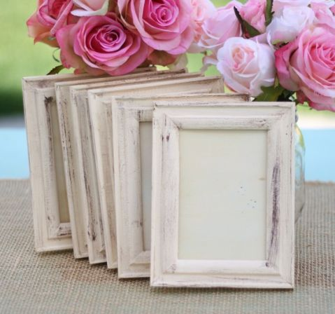 shabby chic wedding frames