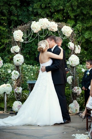 wedding rose arch