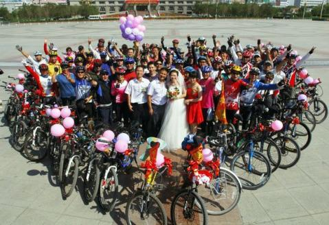 bike wedding