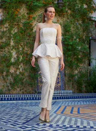 bridal trousersuit
