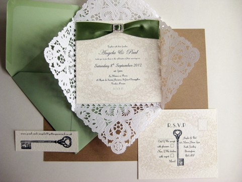 diy wedding stationary