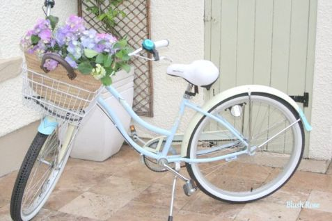 flower wedding bicycle