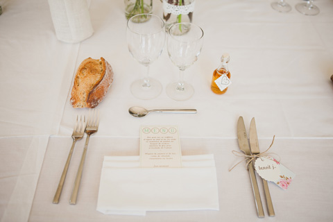 french wedding place setting